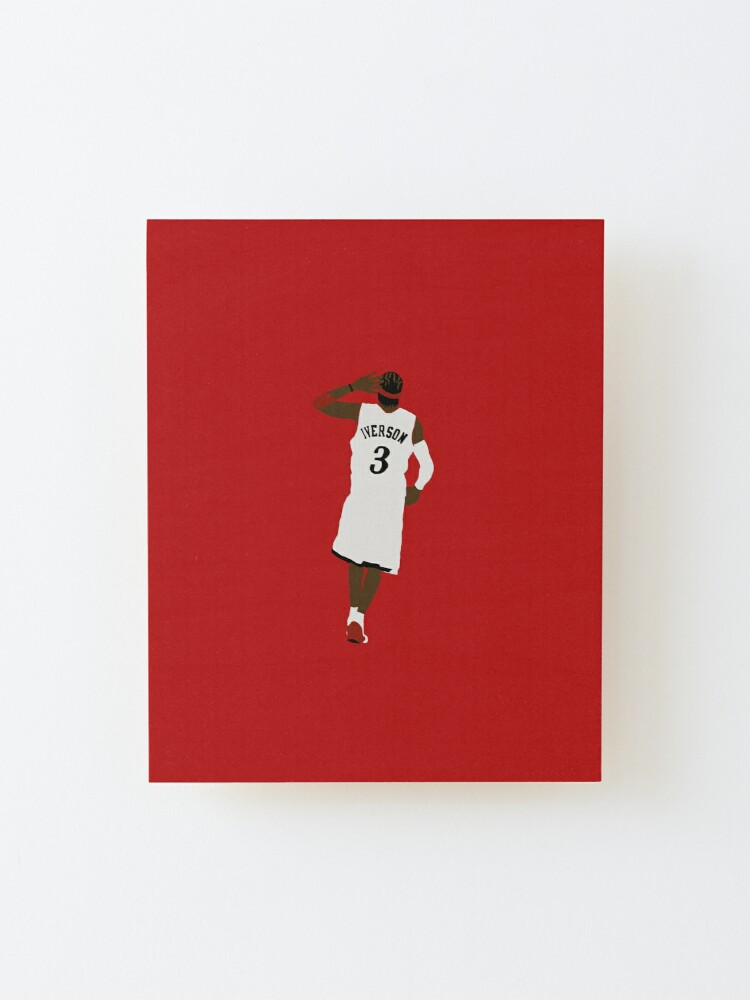 Alternate view of Allen Iverson Hand To Ear  Mounted Print