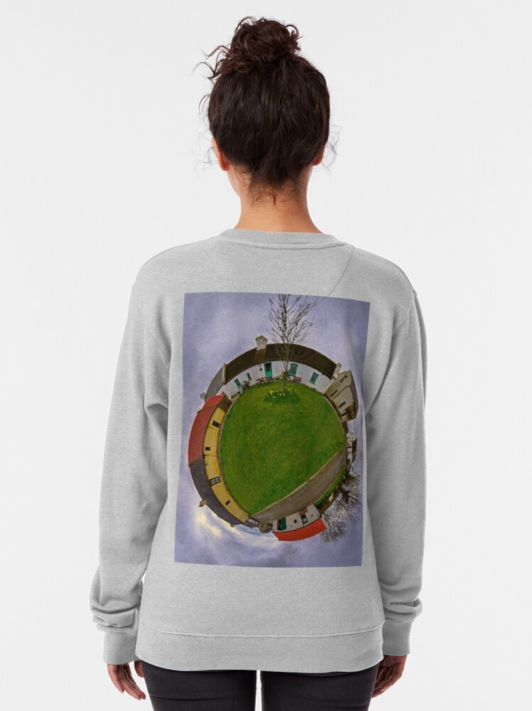 Alternate view of Hanna's Close, County Down (Sky Out) Pullover Sweatshirt