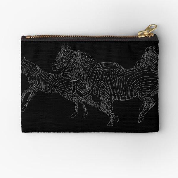Zebras Running Zipper Pouch