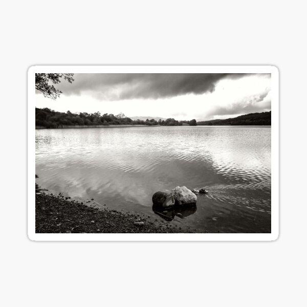 Overcast Day on Esthwaite Water Lake Sticker