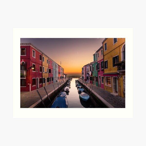 Italy, Burano Italy Art Print