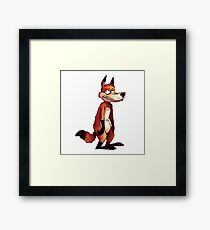 Dumb Fox Framed Print