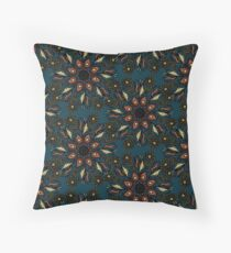 floral mandala pattern Throw Pillow