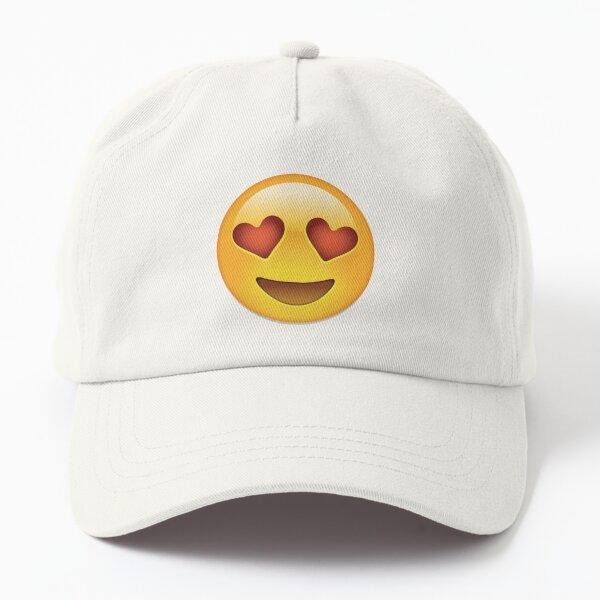Love Hearts emoji Dad Hat