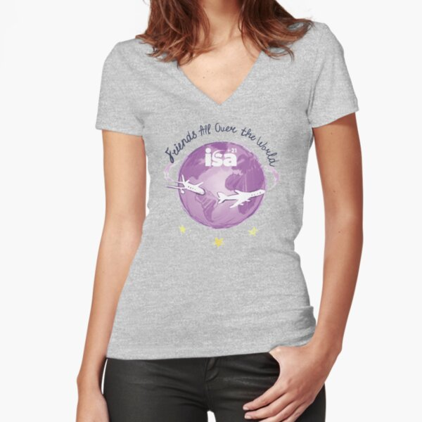 Friends All Over The World Fitted V-Neck T-Shirt