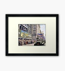 Patton during a welcome home parade in Los Angeles, June 9, 1945 Framed Print