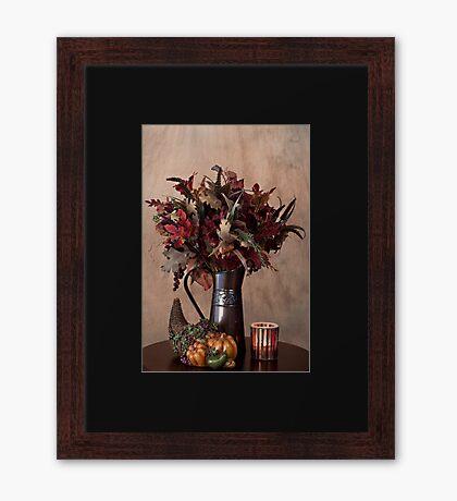 Fall/Autumn Still Life Framed Print