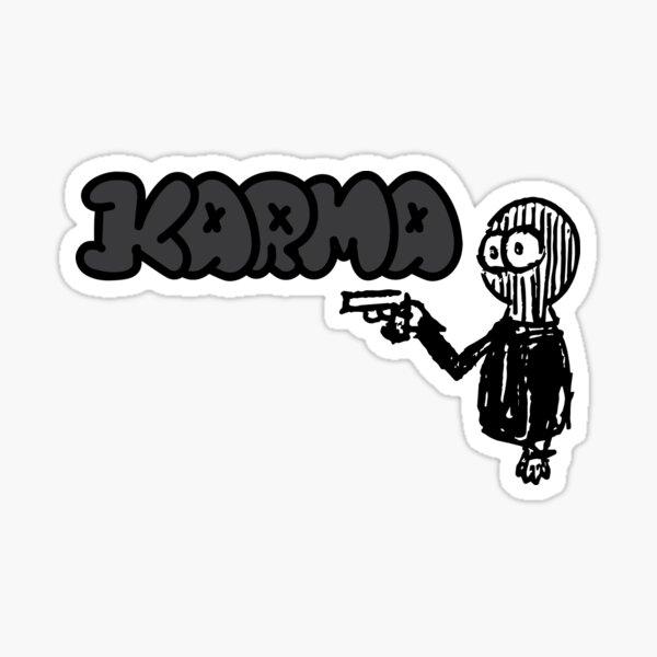 """Karmagraues """"Klassisches"""" Design Sticker"""