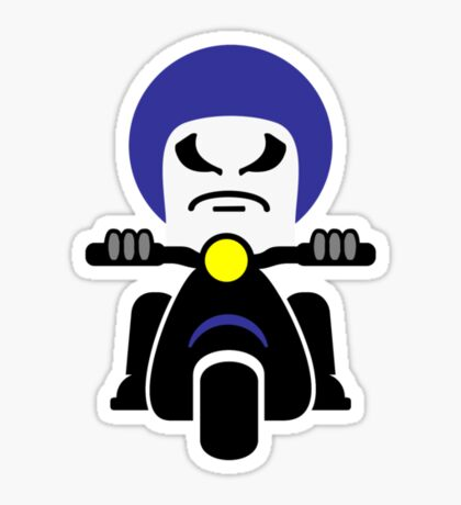 Bad Dude on a Scooter VRS2 Sticker