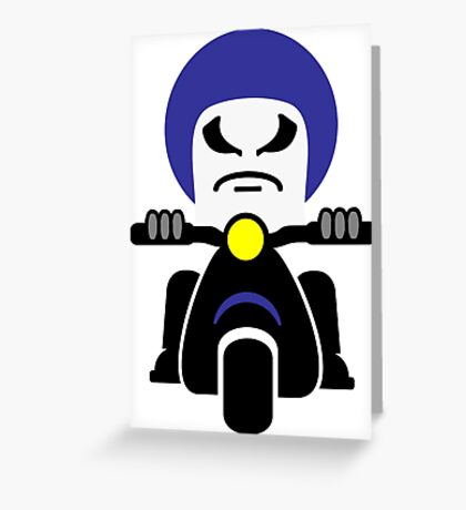 Bad Dude on a Scooter VRS2 Greeting Card