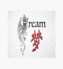 Chinese Character Art-Dream zum Vintage World-Dream in chinesischem Schriftzeichen mit Vintage Font Tuch