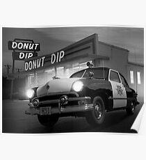 Cops Shoot Unarmed Donut Poster