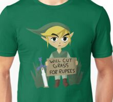 Legend of Zelda - Link - Cut Grass for Rupees Unisex T-Shirt