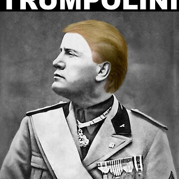 Trumpolini (White Text - Top) by ssshirts