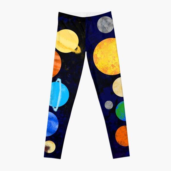Watercolor Solar System Leggings