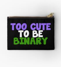 Trans Pride - Too Cute To Be Binary Studio Pouch