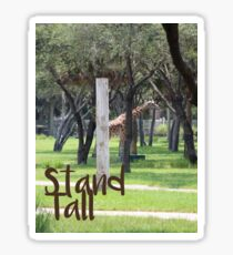 Giraffe Being Tall Sticker
