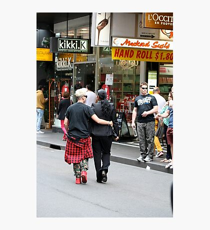 Saturday morning shoppers in Melbourne Photographic Print