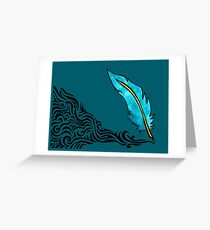 Feather Quill Pen Greeting Card