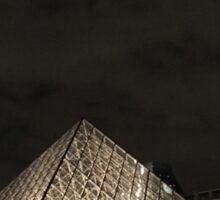 Louvre at Night Sticker
