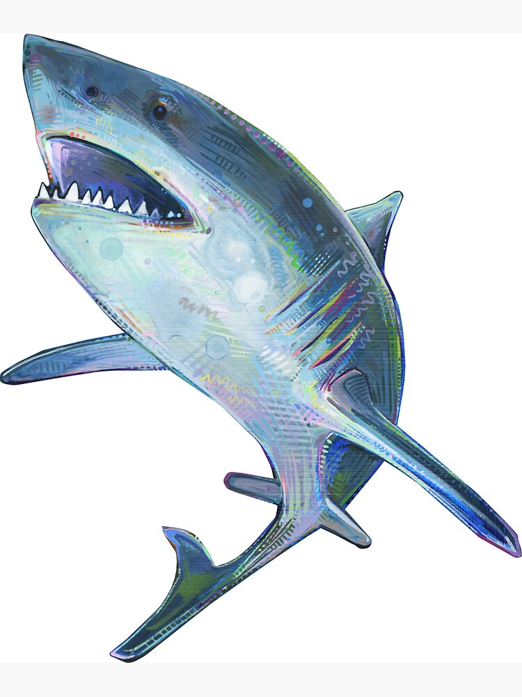 Great White Shark Painting - 2012 by gwennpaints