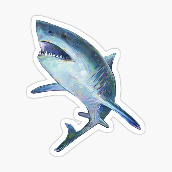 Great White Shark Painting - 2012 Sticker