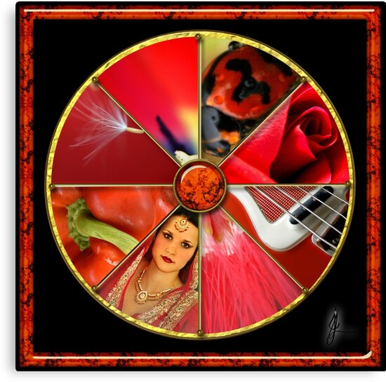Red Colour Wheel by Jane Marin