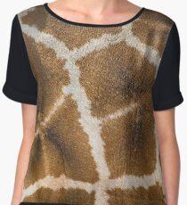 Giraffe Skin Closeup Women's Chiffon Top