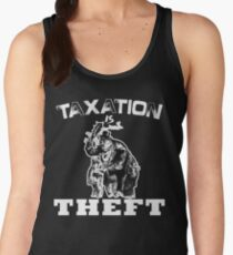 Taxation is THEFT  (white version) Women's Tank Top