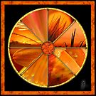 Orange Colour Wheel by Jane Marin