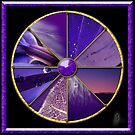 Purple Colour Wheel by Jane Marin