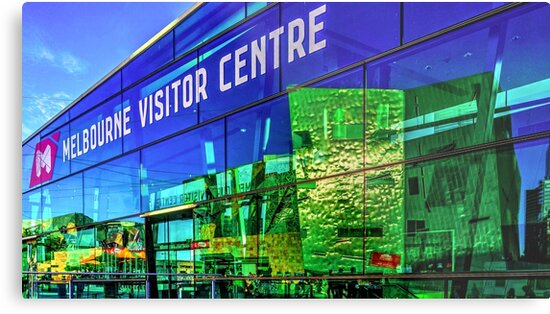Reflections at the Melbourne Visitor Center - Melbourne, Victoria by sjphotocomau