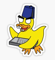 zombie haxoring duck Sticker