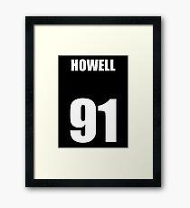 Dan Howell - White Framed Print