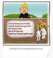 Trumpty-Dumpty Sat on a Wall Poster