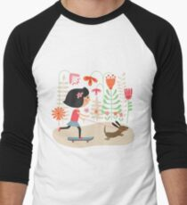 Girl on skateboard with her dog T-Shirt
