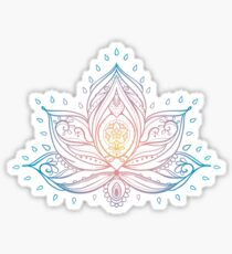 Lotus Mandala Illustration Sticker