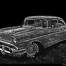 '57 Chevy Scratchboard by emilyRose3