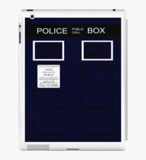 Time-traveling Police Call Box iPad Case/Skin