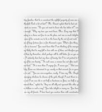 Pride and Prejudice Text Hardcover Journal
