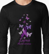 Purple Awareness Ribbon: Lupus Long Sleeve T-Shirt