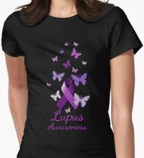 Purple Awareness Ribbon: Lupus Women's Fitted T-Shirt