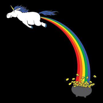 Unicorn Rainbow Fart Gold by beckyb