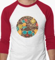 Robots on brown T-Shirt