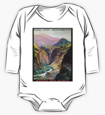 Route des Alpes, French Travel Poster Kids Clothes