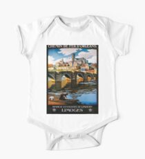 Limoges, French Travel Poster Kids Clothes