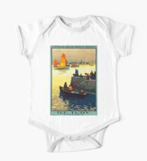 Ile Tudy-Finistere, French Travel Poster One Piece - Short Sleeve