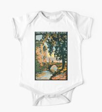 Bretagne et Normandie, French Travel Poster One Piece - Short Sleeve