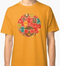 Robots on red Classic T-Shirt