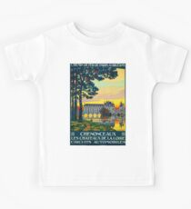 Chenonceaux, French Travel Poster Kids Tee